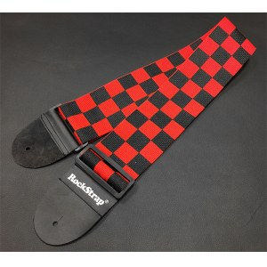 ROCKSTRAP NR-1 CP Finish B Nylon-Gitarrengurt (80mm), printed checker red