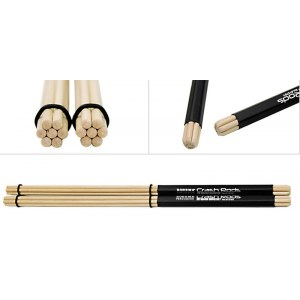 ROHEMA 61370/1 Crash Rods (Paar) Holz Rod Drumsticks