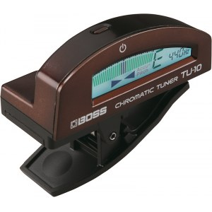 BOSS TU-10 BN Tuner Clip-On-Stimmgerät, metallic brown