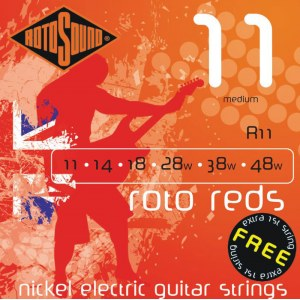 ROTOSOUND R-11 Roto Reds Regular 011-048 Nickel plated Steel. Saiten für E-Gitarre