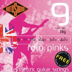 ROTOSOUND R-9 Roto Pinks Super Light 009-042 Nickel plated Steel. Saiten für E-Gitarre