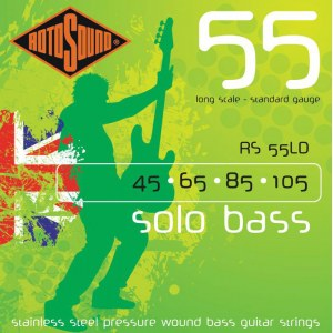 ROTOSOUND RS-55 LD Solo Bass 045-105 Stainless Steel. Saiten für 4-String E-Bass