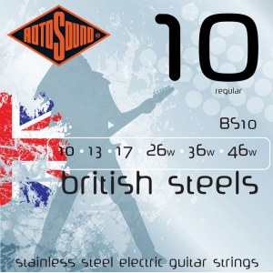 ROTOSOUND BS-10 British Steel Regular 010-046 Pure Steel. Saiten für E-Gitarre