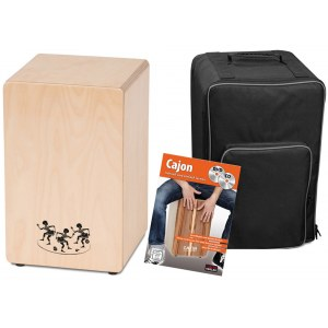 S2R CAJ1-B2 First Beat Bundle Cajon inkl. Tasche und Lehrgang (MADE in GERMANY)