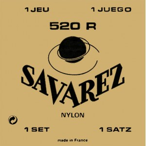 SAVAREZ 520 R High Tension E1-E6 Saiten für Konzertgitarre, gold/rosa