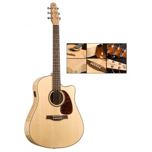 SEAGULL Performer CW HG Dreadnought Q1 Flame Maple Elektro-Akustik-Gitarre inkl. Gigbag, natural