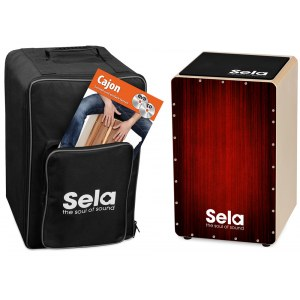 SELA SE 060 Varios Red Cajon Bundle Alles für einen idealen Start in die Cajonwelt!