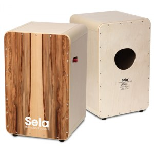 SELA SE 010 CaSela Pro Satin Nuss Cajon mit Snare On/Off-Mechanik