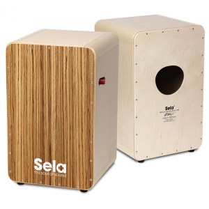 SELA SE 012 CaSela Pro Zebrano Cajon mit Snare On/Off-Mechanik