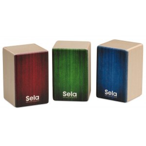 SELA SE 108 Mini Cajon Shaker Set Soft, Medium, Hard (3Stück)