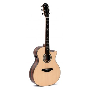 SIGMA GUITARS GECE-3+ Grand Auditiorium Elektro-Akustik-Gitarre, natural