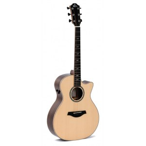 SIGMA GUITARS GWCE-3+ Grand Auditiorium Elektro-Akustik-Gitarre, natural