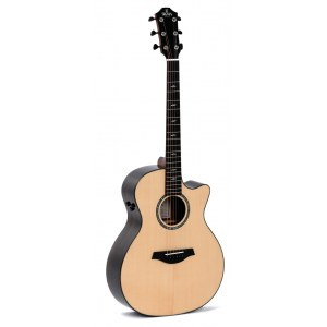 SIGMA GUITARS GZCE-3+ Grand Auditiorium Elektro-Akustik-Gitarre, natural