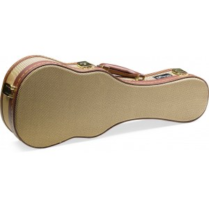 STAGG GCX-UKS GD Gold Tweed Case Koffer für Sopran-Ukulele, tweed
