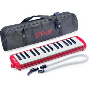 STAGG MELOSTA-32 RD Melodica inkl. Tasche, rot