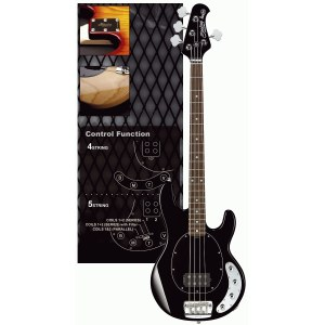 STERLING by Music Man RAY-34 BK RW Stingray 4-saitiger E-Bass inkl. Gigbag, black
