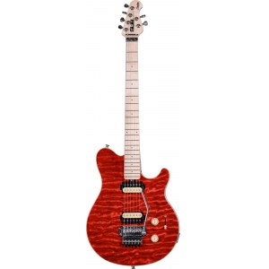 STERLING by Music Man SUB AX4 TRD Axis E-Gitarre, transparent red / B-Ware