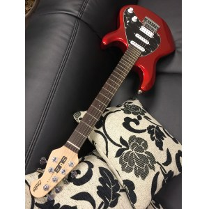 STERLING by Music Man SUB Silo 3 RW MR Silouette E-Gitarre inkl. Gigbag, metallic red