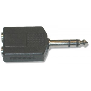 T&M Cable A-201 (GPP-359) Adapter Dual 6,3mm St-KLf - 6,3mm St-KLm