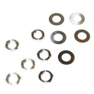 TRONICAL TronicalTune Hex Nut & Washer (6-Set) Montage-Zubehör (Mutter/Scheibe), nickel