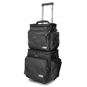 UDG U-9679 BL/OR SlingBag Trolley Set Deluxe 110LP Platten-Trolleytasche, schwarz/orange