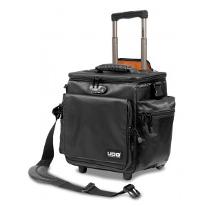 UDG U-9981 BL/OR SlingBag Trolley Deluxe 60 LP Platten-Trolleytasche, schwarz/orange