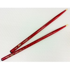 VATER Color Wrap Wood Tip 5A Red (Paar) Color Wrap Drumsticks
