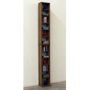 VCM 24002 Bigol DVD/CD-Regal Rack, nussbaum