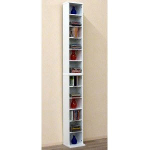 VCM 24005 Bigol DVD/CD-Regal Rack, weiss