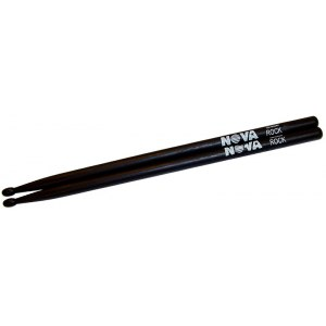 VIC FIRTH Nova Wood Tip Rock-B (Paar) Hickory Drumsticks schwarz