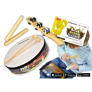 VOGGENREITER 1130 Rhythmic Village Percussion Set Set für alle kleinen Rhythmus-Piraten!