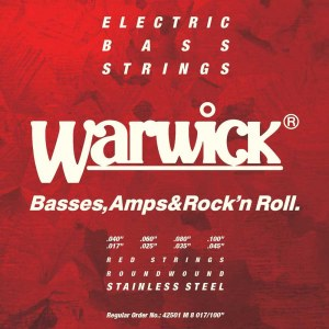WARWICK Red Strings 8 Bass Medium 017-100 Stainless Steel Roundwound. Saiten für E-Bass