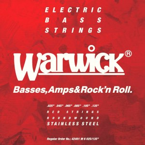 WARWICK Red Strings 6 Bass Medium 025-135 Stainless Steel Roundwound. Saiten für E-Bass