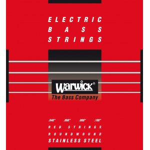 WARWICK Red Strings 4 Bass Medium Light 040-100 Stainless Steel Roundwound. Saiten für E-Bass