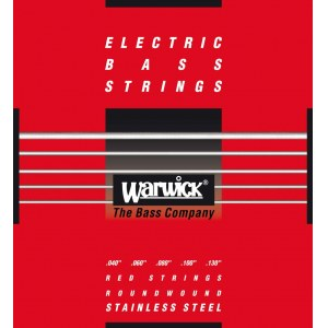 WARWICK Red Strings 5 Bass Medium Light 040-130 Stainless Steel Roundwound. Saiten für E-Bass