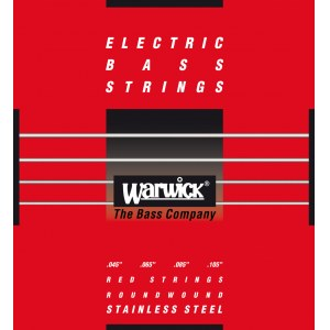 WARWICK Red Strings 4 Bass Medium 045-105 Stainless Steel Roundwound. Saiten für E-Bass