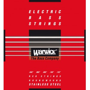 WARWICK Red Strings 5 Bass Medium 045-135 Stainless Steel Roundwound. Saiten für E-Bass