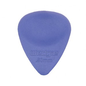 WEDGIE Clear XL Plektrum 0,50mm, blau Die Zubehörsensation aus Californien/USA!