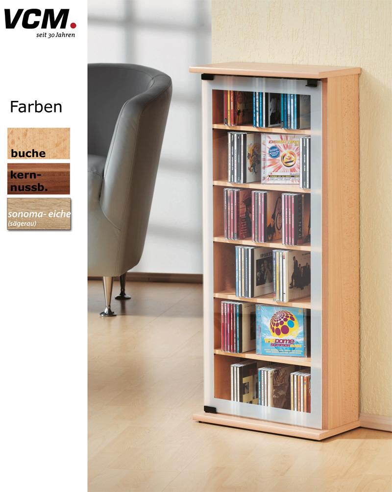 vcm 21034 classic cd dvd turm nussbaum m bel. Black Bedroom Furniture Sets. Home Design Ideas