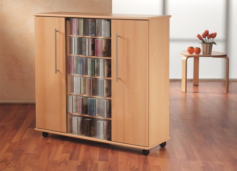 VCM 10793 Luxor Sideboard CD/DVD Schrank, buche (Möbel) - shop2rock.de