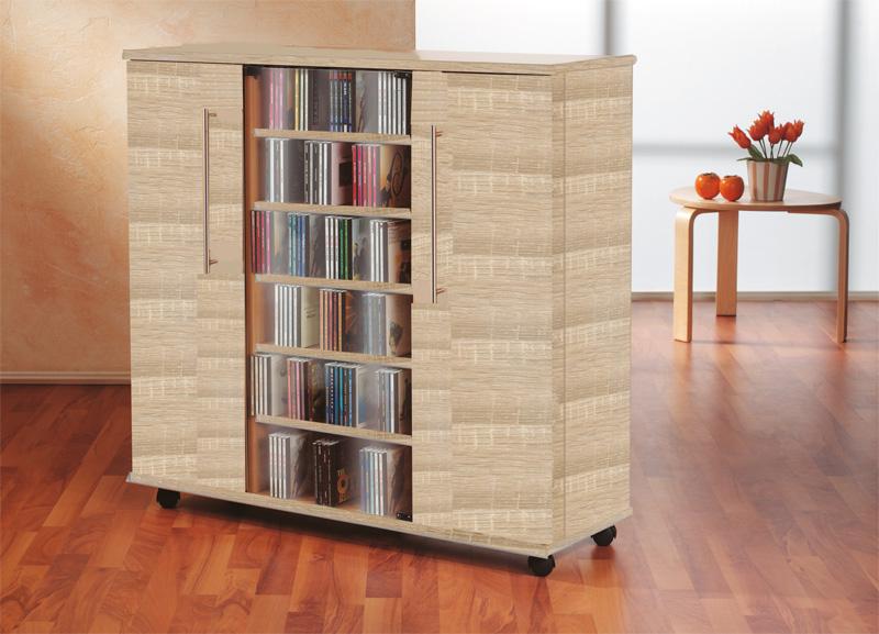 vcm 10799 luxor sideboard cd dvd schrank sonoma eiche m bel. Black Bedroom Furniture Sets. Home Design Ideas