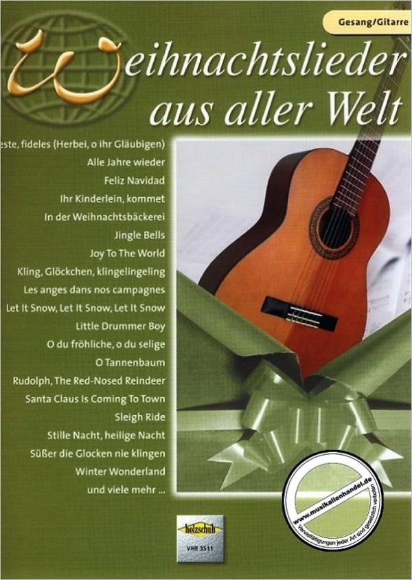 ANCORA Weihnachtslieder aus aller Welt Gitarre Sammlung für das Solo ...