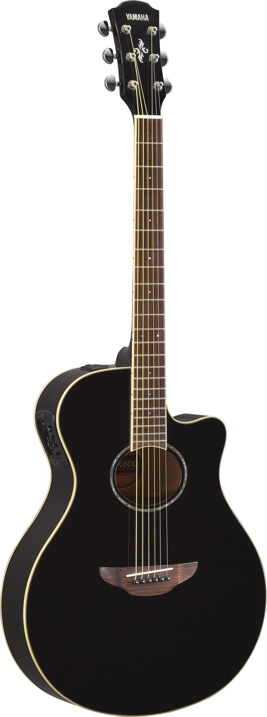 yamaha apx600 bk elektro akustik gitarre schwarz gitarre. Black Bedroom Furniture Sets. Home Design Ideas
