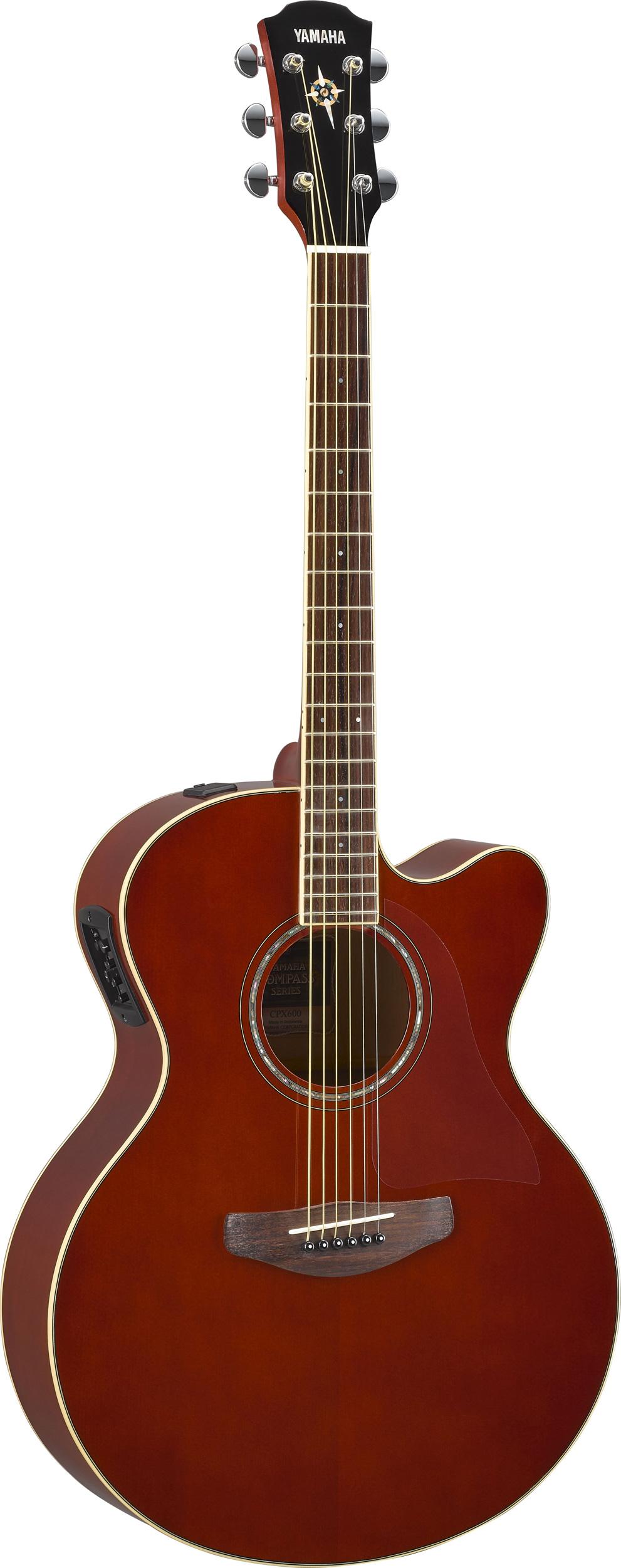 yamaha cpx600 rb compass jumbo elektro akustik gitarre. Black Bedroom Furniture Sets. Home Design Ideas