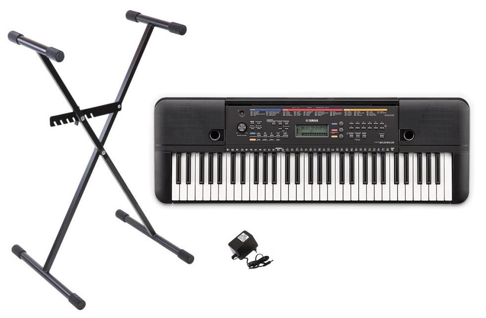 Yamaha psr e263 portatone bundle 4 keyboard inkl stativ for Yamaha portatone keyboard
