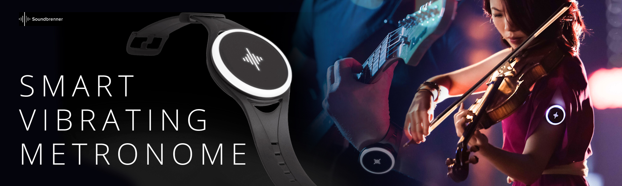 SOUNDBRENNER Pulse Smart Vibrating Metronome