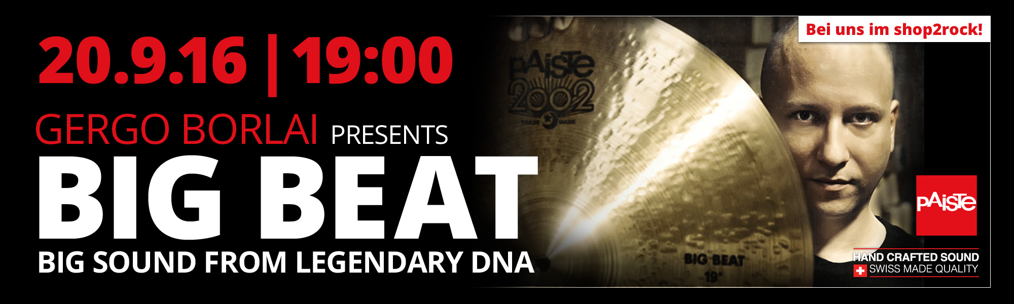 Big Beat Paiste Workshop - Gergo Bolai live