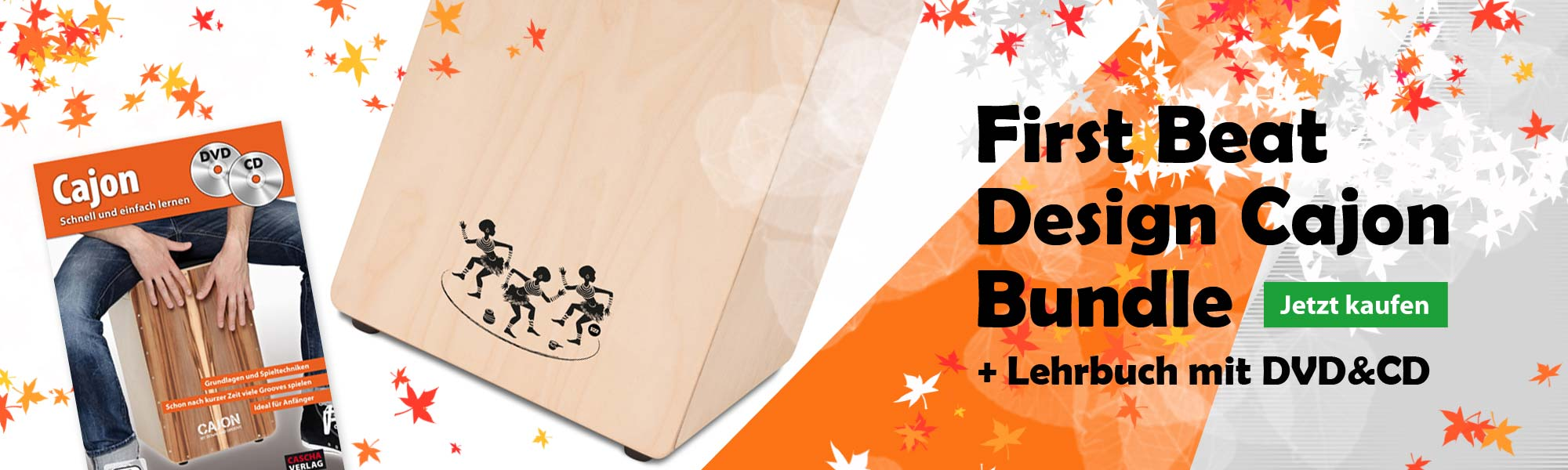 S2R CAJ1-B1 First Beat Cajon Bundle inkl. Lehrgang