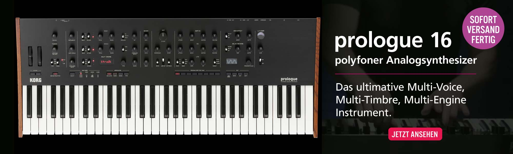 KORG Prologue 16 Analoger Synthesizer